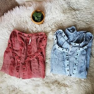 Free People Against All Odds Blouse